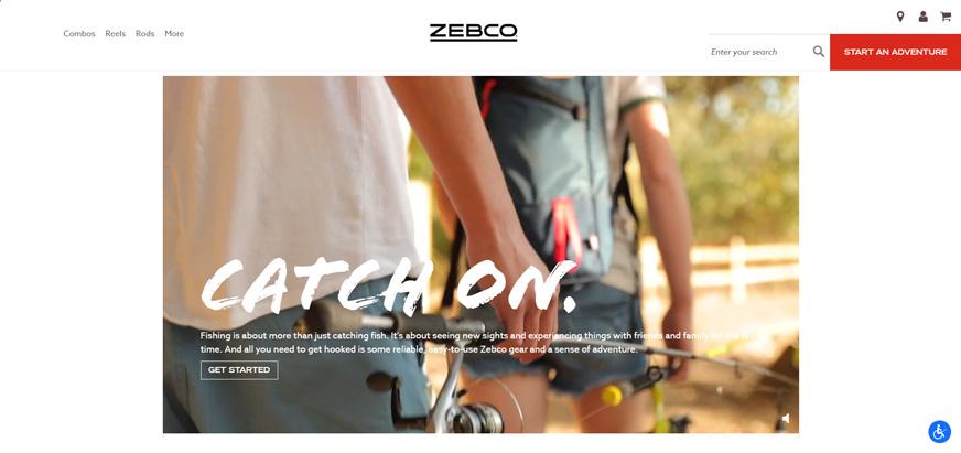 Zebco.com Home Page