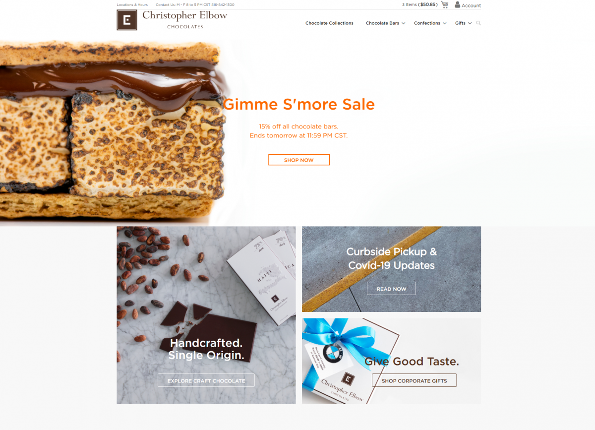 Christopher Elbow Chocolates HomePage