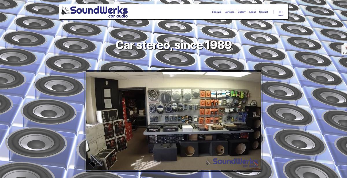 soundwerks homepage screenshot